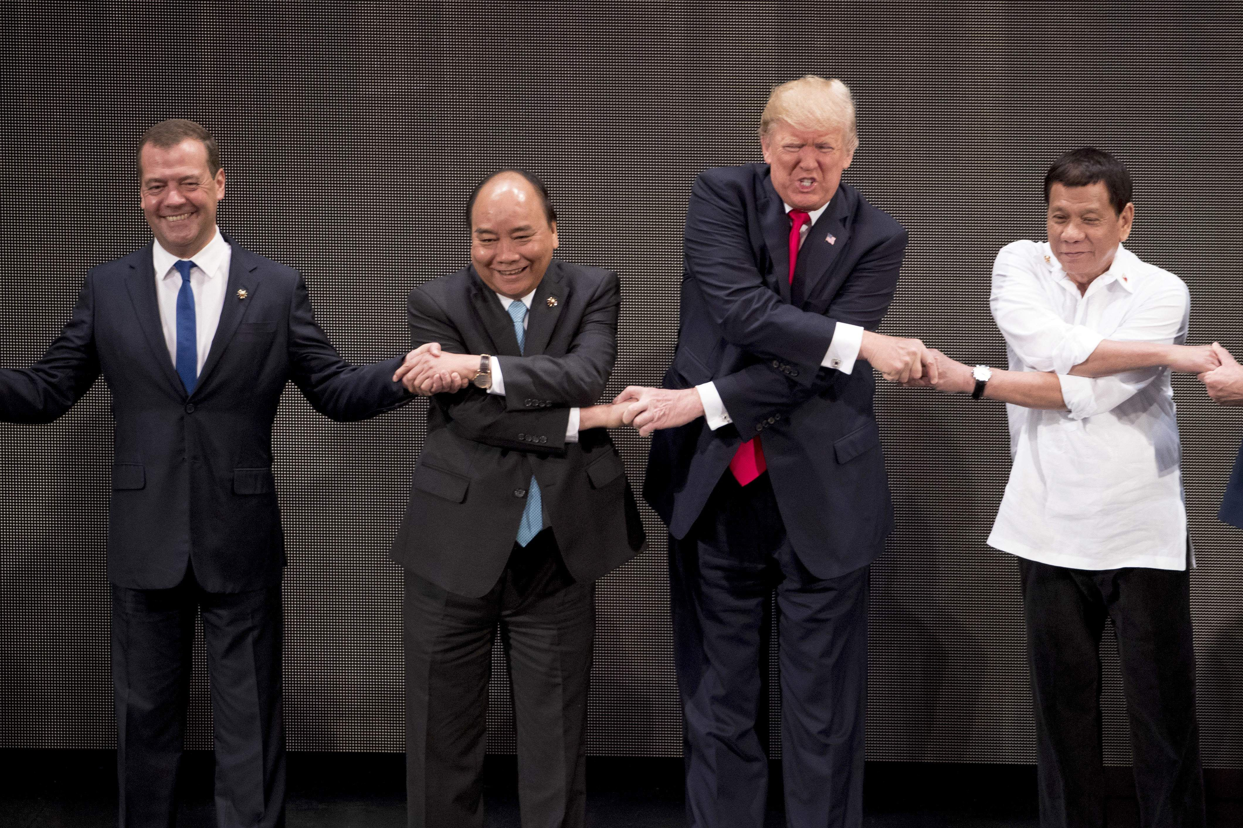 Image result for Here's how Donald Trump got hold of 'ASEAN-way handshake'