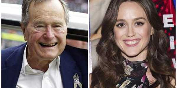 Lind accused former President George H.W. Bush of touching her from behind while she was posing for a photo alongside him and telling her a dirty joke at a Houston event in 2014. AP