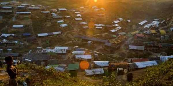 A view of the Hakim Para camp of Rohingya refugees in Ukhiya, Bangladesh.|AP