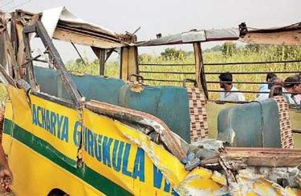 Mangled remains of the school bus | Express