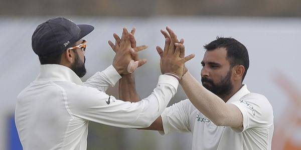 Shami's long-awaited return to the Test fold saw the pacer grab two wickets as India