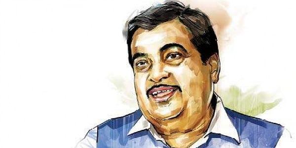 Nitin Gadkari, graphic, illustration, BJP , Rivers,