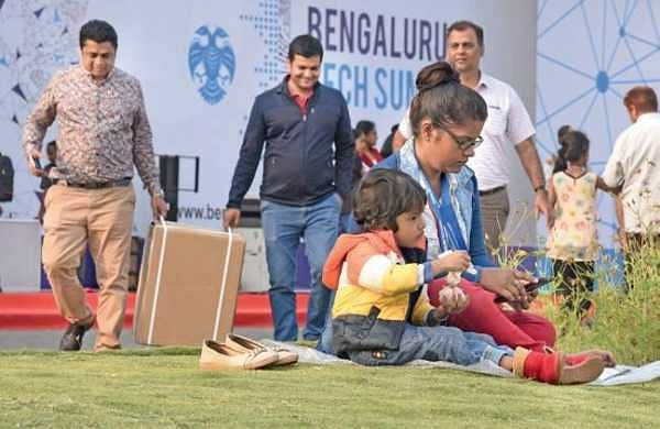 Visitors at the last day of the Tech Summit on Saturday | Vinod Kumar T