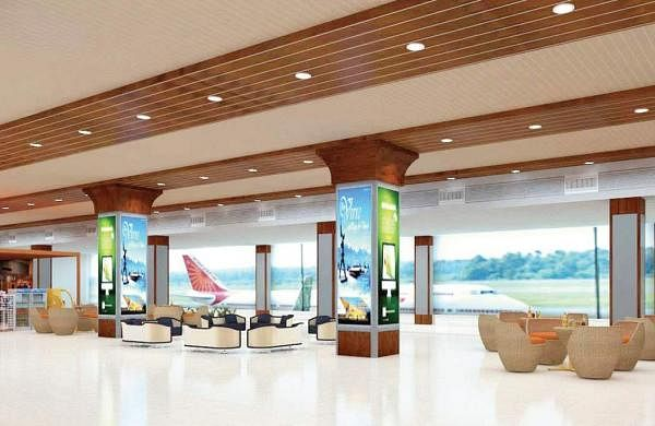 The interior of the renovated domestic terminal at the Cochin International Airport