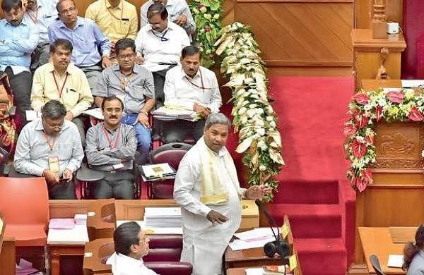 Chief Minister Siddaramaiah addresses the Legislative Council in Belagavi on Thursday