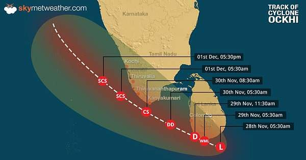 Cyclone Ockhi to recurve towards Gujarat coast: Top developments