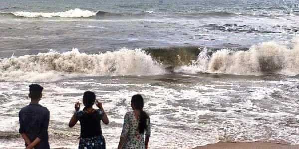Black waves at Marina, Pattinapakkam- The New Indian Express