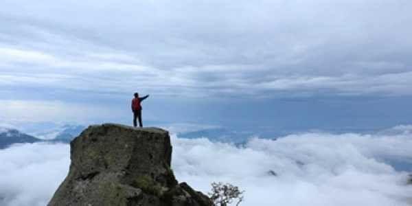 On the trekking trail in Uttarakhand. |IANS