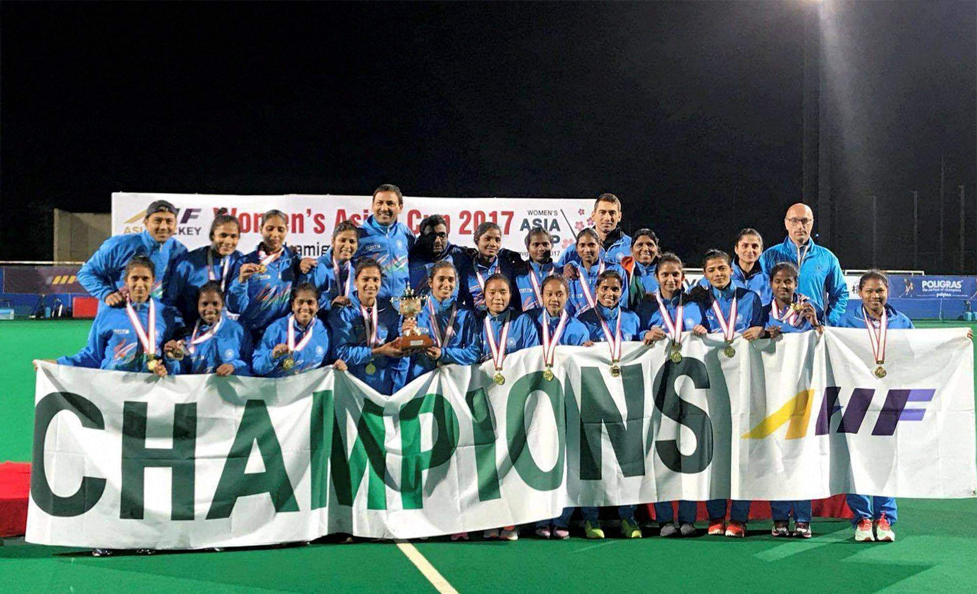 Image result for Indian women hockey team ranked 10th in world after triumph