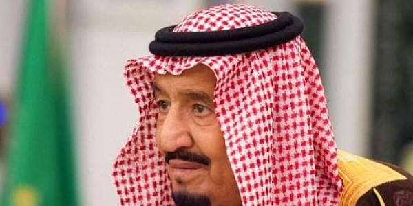 King Salman attends a swearing in ceremony in Riyadh, Saudi Arabia. AP