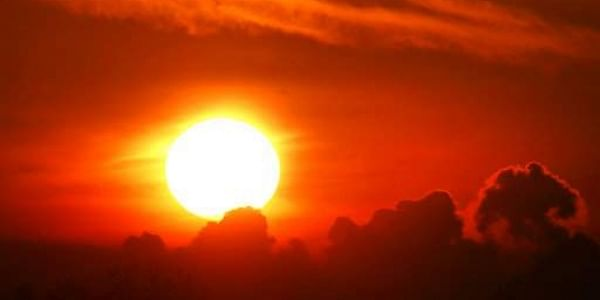 The sun rises over Frankfurt, Germany.|AP