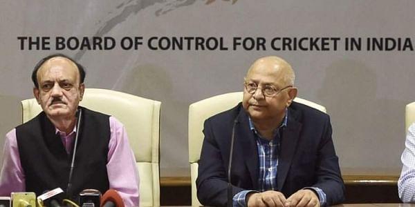 BCCI acting president CK Khanna, left, with acting secretary Amitabh Choudhary (File PTI)