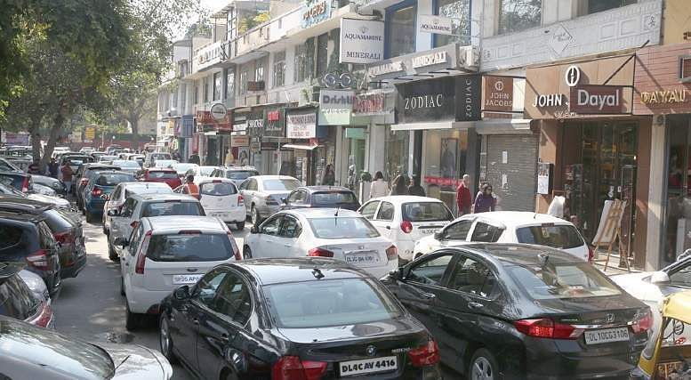 EPS file image of Khan market used for representational purpose only