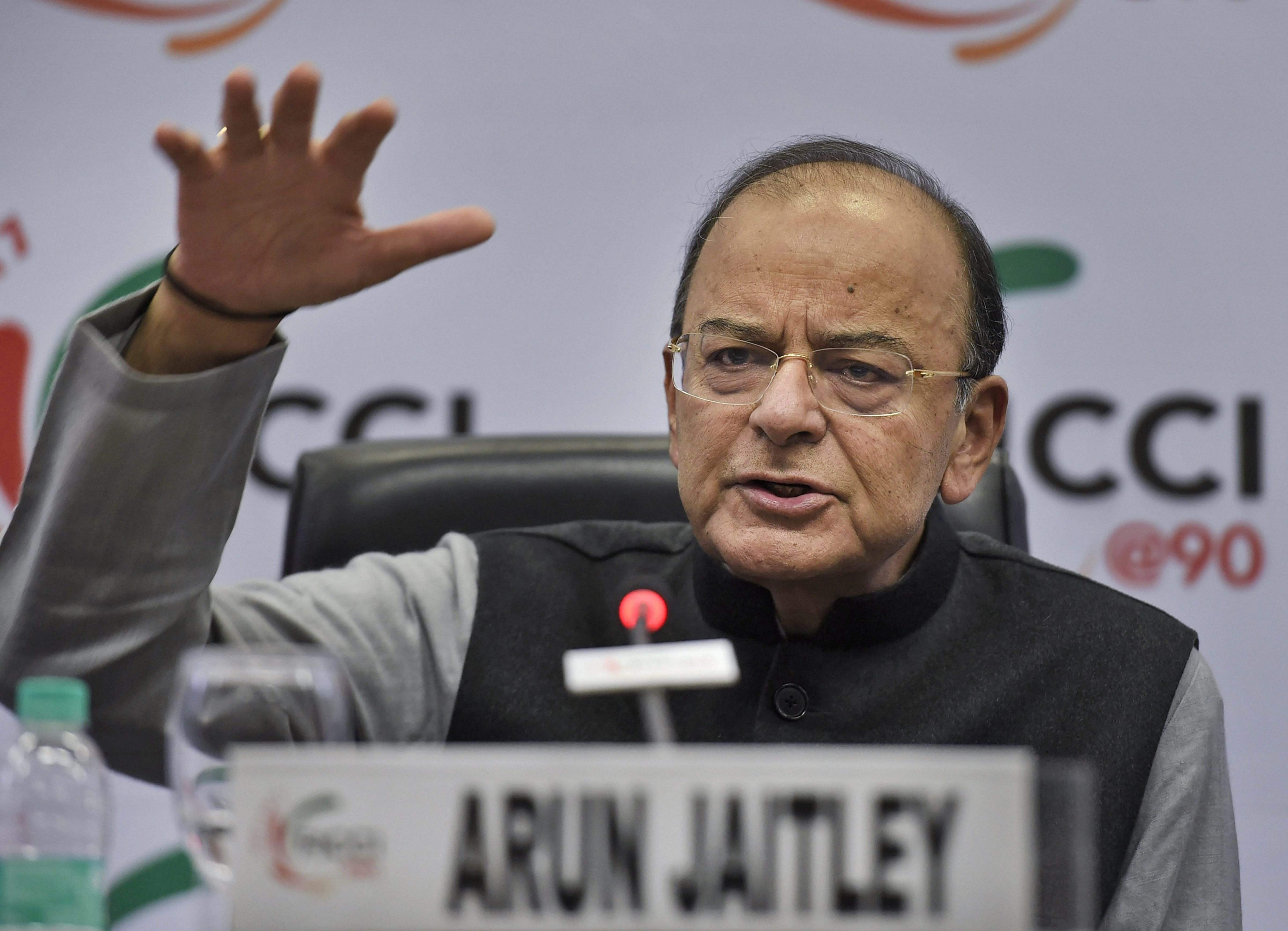 Union Finance Minister Arun Jaitley addresses during the 90th Annual General Meeting of the FICCI in New Delhi. | PTI