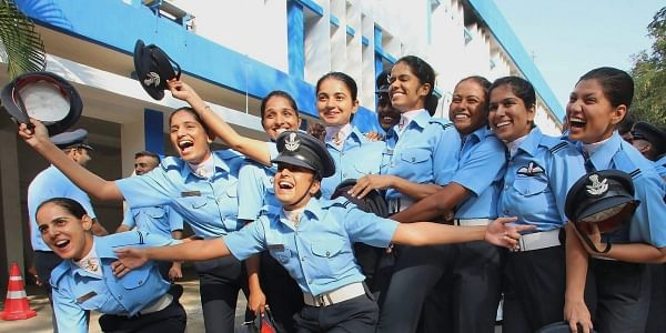 Newly graduated officers of the Indian Air Force at a combined graduation parade at Air Force Academy Dundigal near Hyderabad on Saturday. | PTI