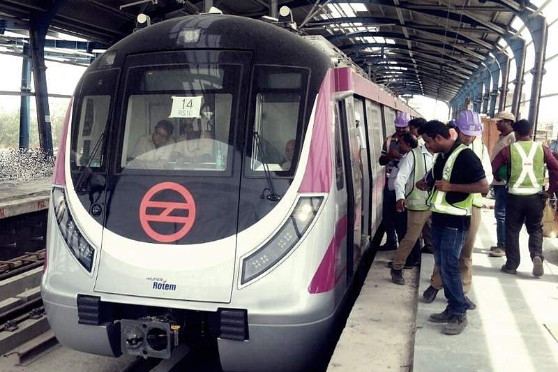 Mishap on Delhi Metro's yet-to-be-opened Magenta Line