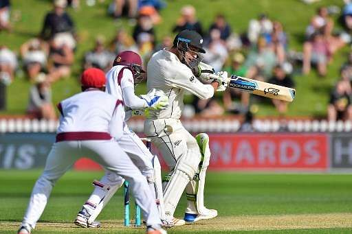 Blackcaps all-rounder Colin de Grandhomme flogs the West Indies