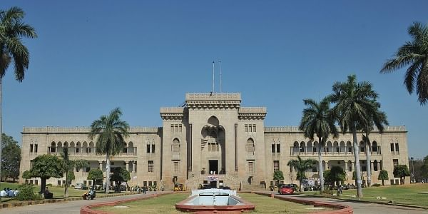 A view of Arts College of Osmania University in Hyderabad.|Express Photo.