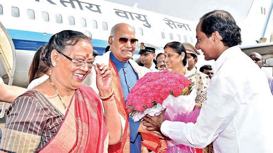 Prez Kovind arrives, Guv hosts dinner- The New Indian Express
