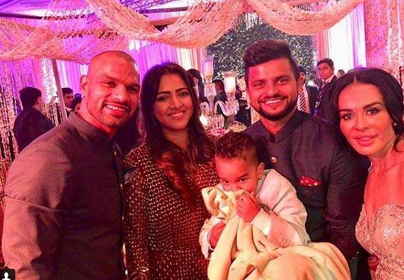 Shikhar Dhawan's wife and kids stopped at Dubai airport