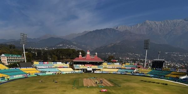 A view of HPCA Stadium ahead of first ODI match between India and Sri Lanka in Dharamshala. | PTI