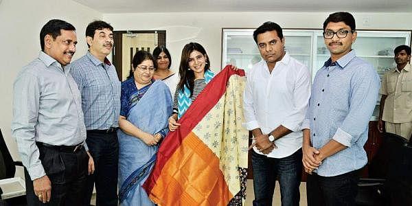 Actress Samantha isbrand ambassador for Telangana handlooms. (Photo   EPS)