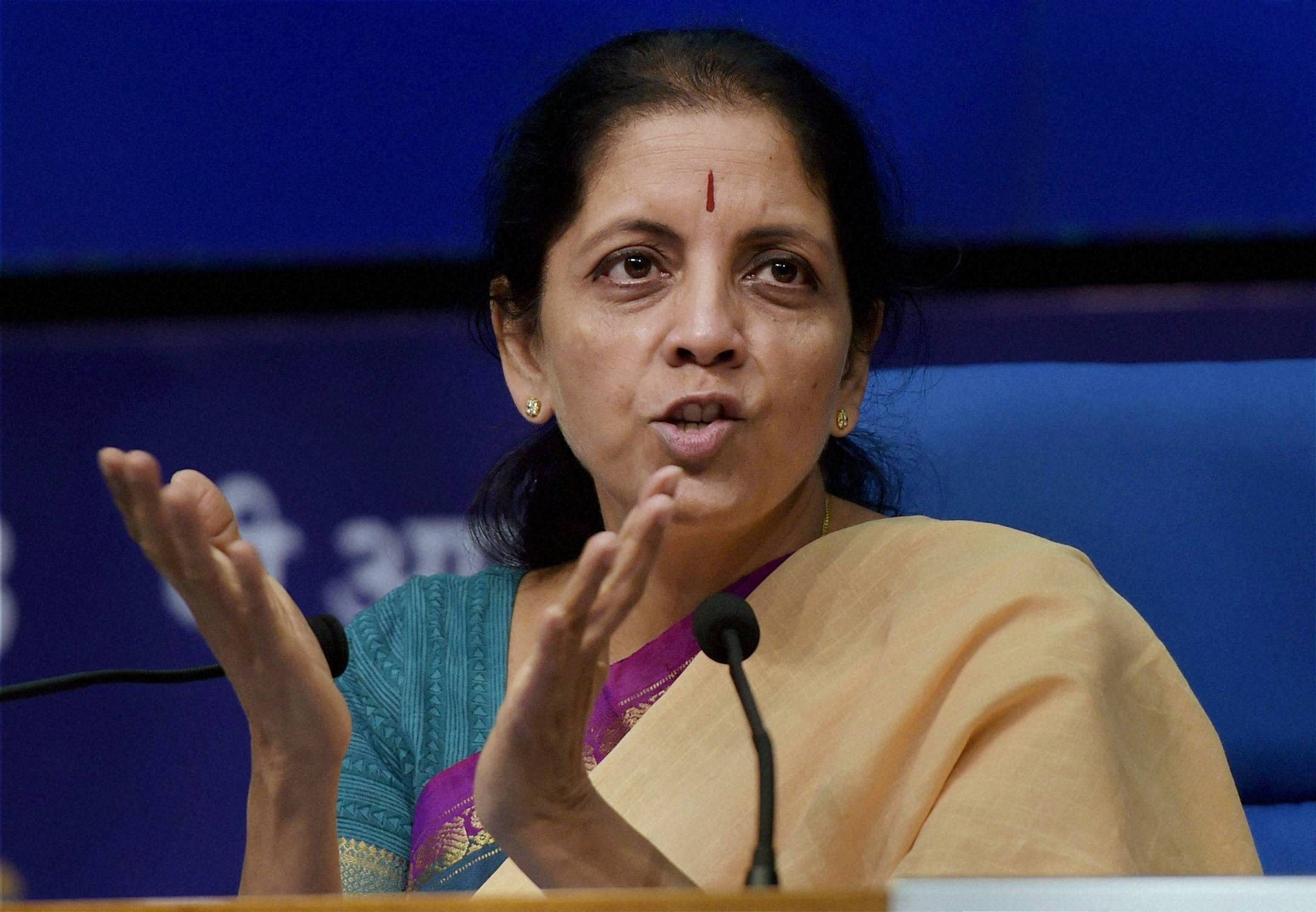 Commerce and Industry Minister Nirmala Sitharaman (File Photo | PTI)
