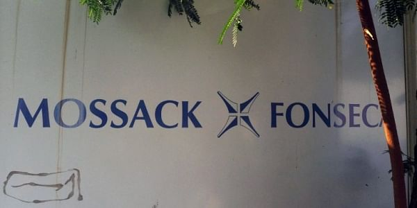 View of a sign outside the building where Panama-based Mossack Fonseca law firm offices are placed in Panama City on April 3, 2016. (File Photo)