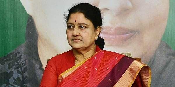 AIADMK General Secretary V K Sasikala at the MLAs and MP meet held at Headquarters on Friday in Chennai.(P Jawahar | EPS)