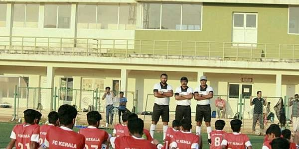 FC Kerala youngsters in training at the Corporation Stadium, Thrissur