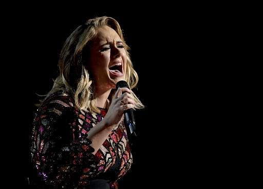 Adele performs 'Hello' at the 59th annual Grammy Awards | AP