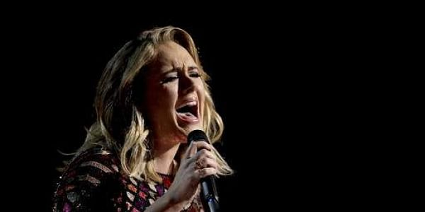 Adele performs 'Hello' at the 59th annual Grammy Awards   AP