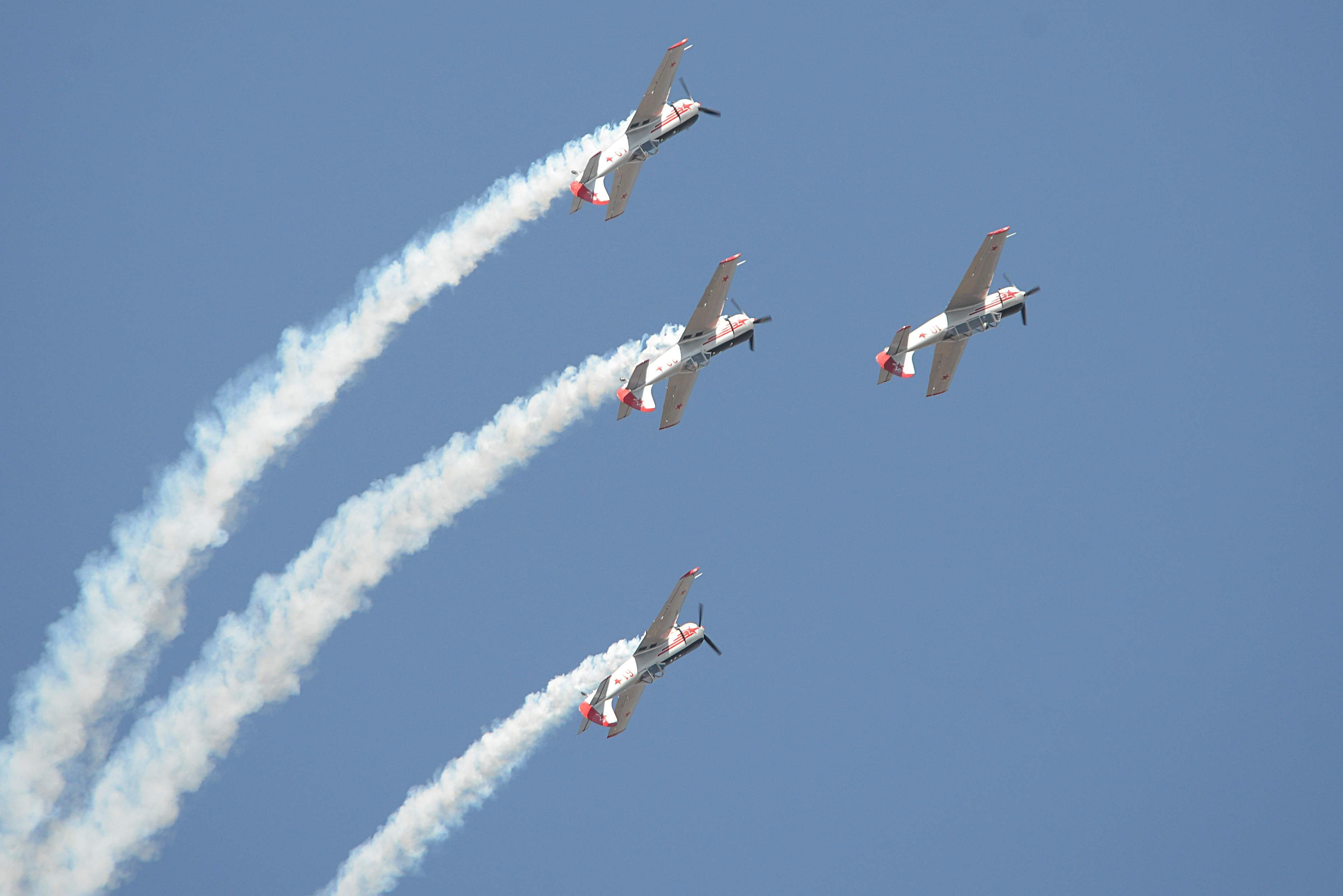 Another formation by the aerobatic team from United Kingdom. (Pushkar V| EPS)