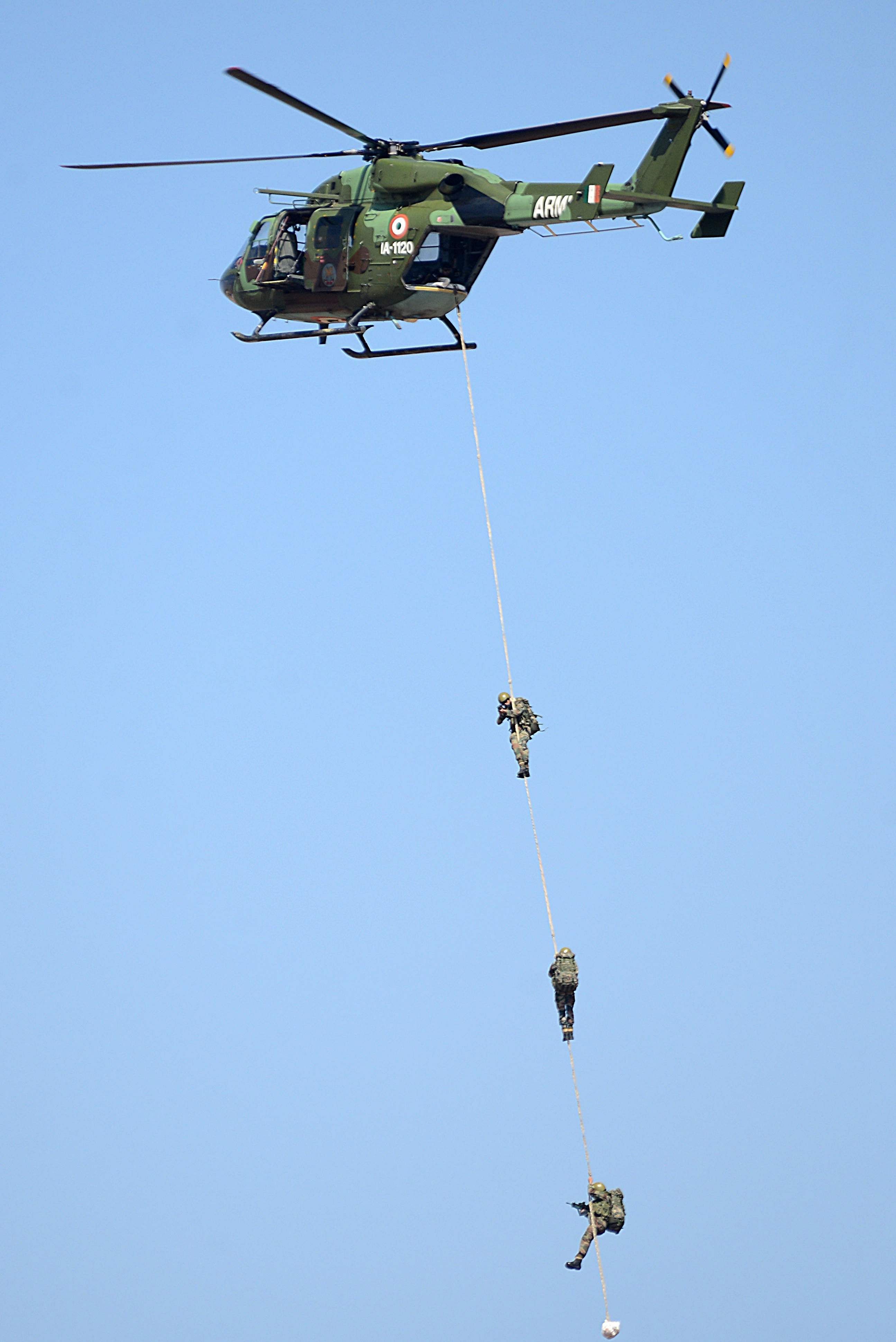 Soldiers from the Indian army perform during the Aero India Bengaluru air show. (Pushkar V | EPS)