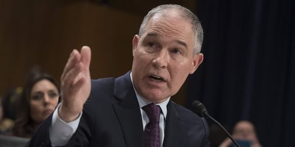 Environmental Protection Agency Administrator-designate, Oklahoma Attorney General Scott Pruitt testifies on Capitol Hill in Washington at his confirmation hearing before the Senate Environment and Public Works Committee. (File Photo | AP)