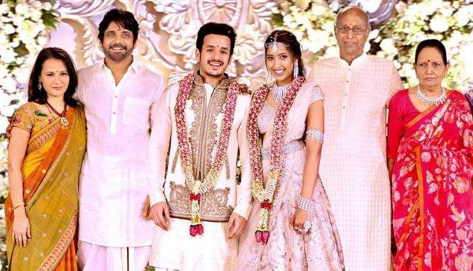 Akhil And Shriya Had Been Seeing Each Other For Almost Two Years Before The December Engagement Photo Nagarjuna Akkineni Twitter