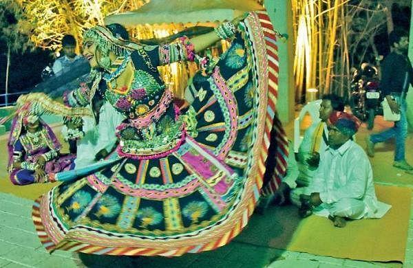 Dancers rehearsing kalbelia at Nishagandhi  B P Deepu