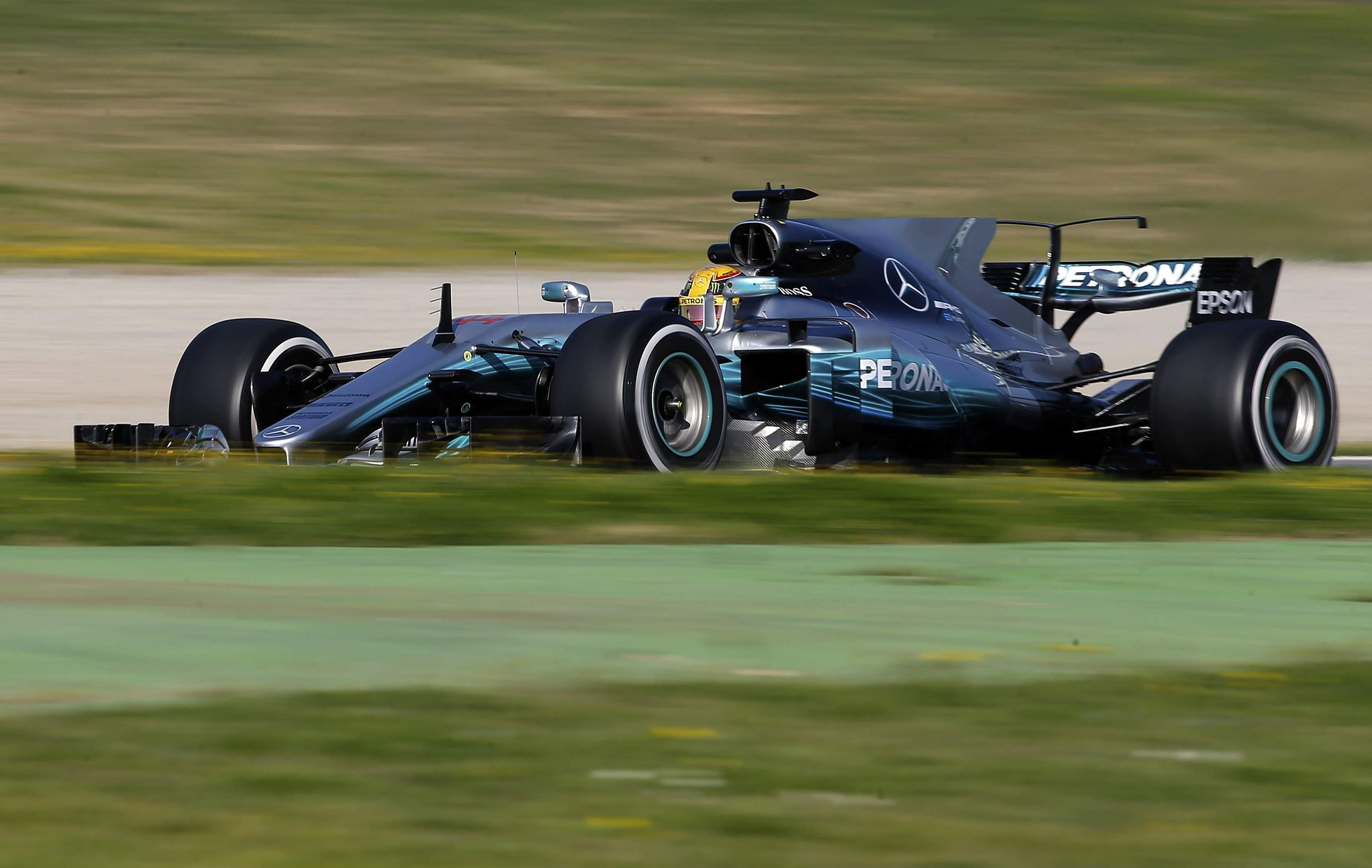 Mercedes shows no let up to start f1 preseason the new for Mercedes benz f1 drivers
