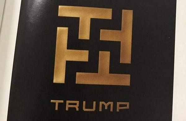 logo k j_Swastika sign alongside TRUMP found on university campus in Texas- The New Indian ...