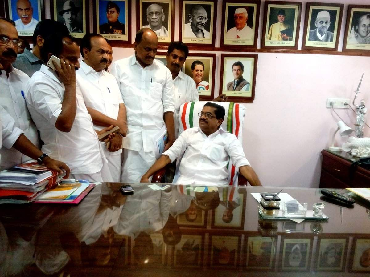 Kerala state Congress president Sudheeran resigns, leaving leadership surprised