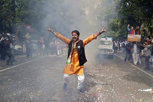 Yogi Adityanath takes charge as UP CM