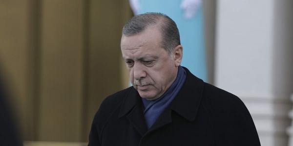Turkey's President Recep Tayyip Erdogan, walks to greet Ethiopia's President Mulatu Teshome Wirtu, at the Presidential Palace, in Ankara Tuesday, Feb. 7, 2017. (File Photo | AP)