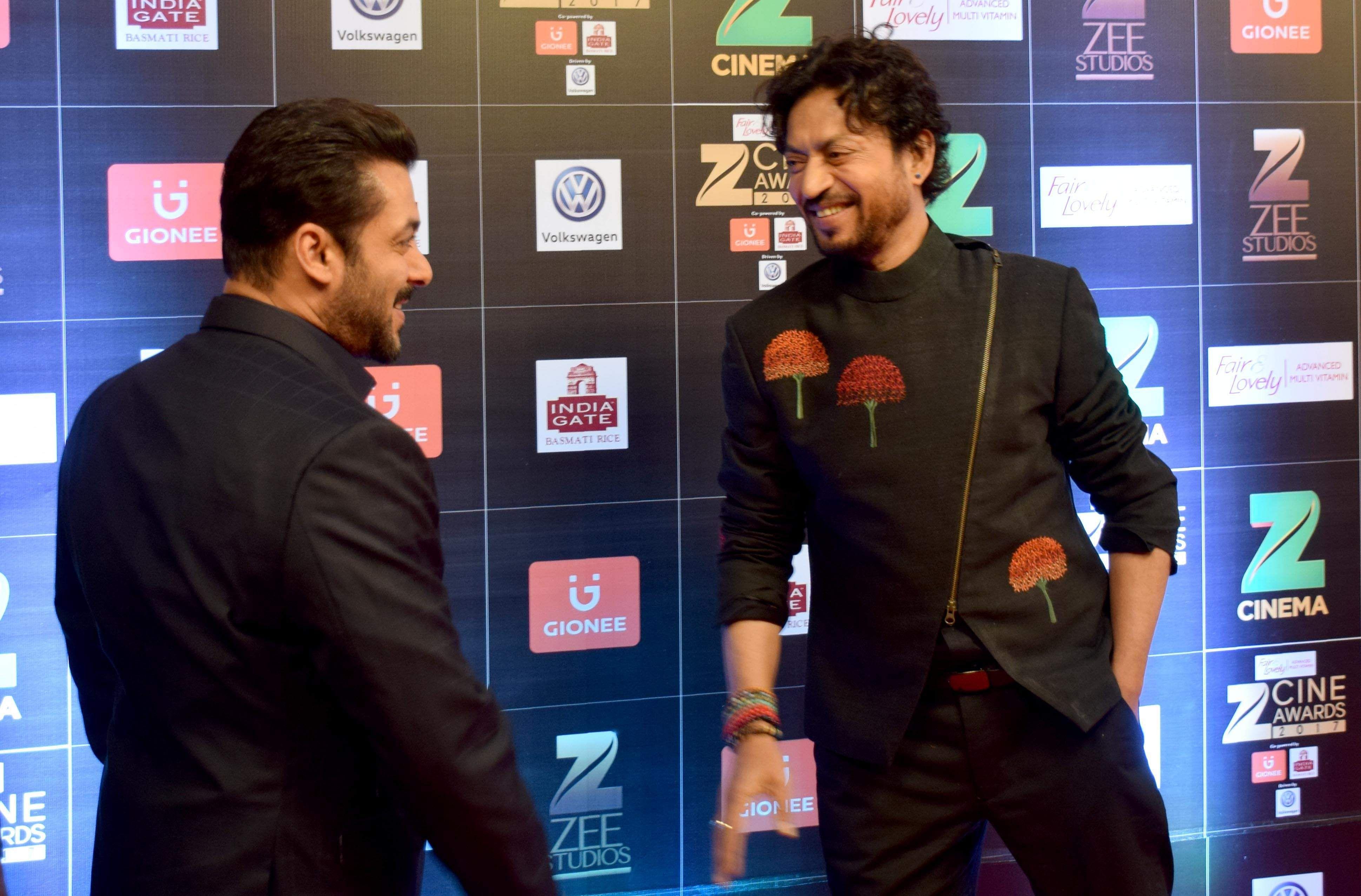 Salman, Irrfan, Zee Cine Awards 2017