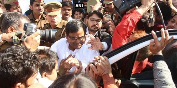 Rape accused Gayatri Prajapati being arrested in Lucknow | ANI