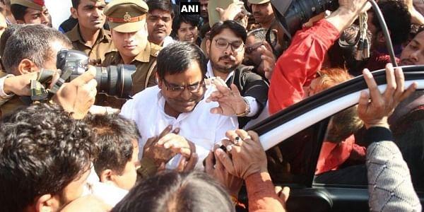 Rape accused Gayatri Prajapati being arrested in Lucknow | ANI
