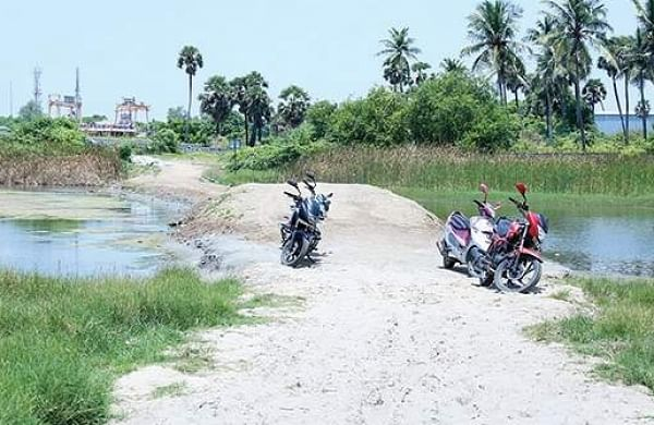 Seven months on, illegal road on Muttukadu lagoon still remains- The New Indian Express
