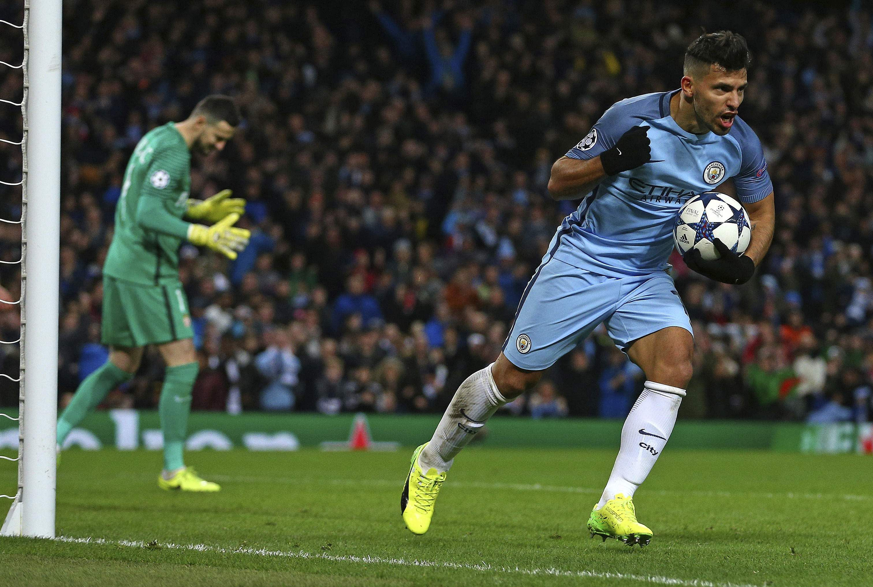 FA Cup Sergio Aguero double leads Manchester City fightback in 5
