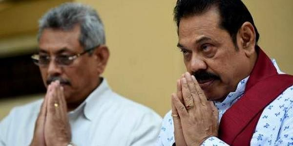 Sri Lanka's former president Mahinda Rajapakse (R) and his brother Gotabhaya Rajapakse (L). (File photo | AFP)