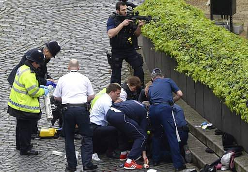 Five dead and 40 injured in attack at British Parliament