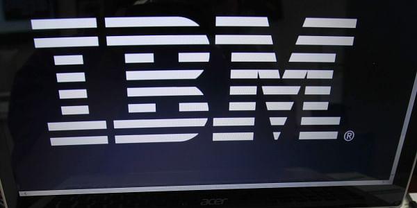 IBM, laptop, logo, tech